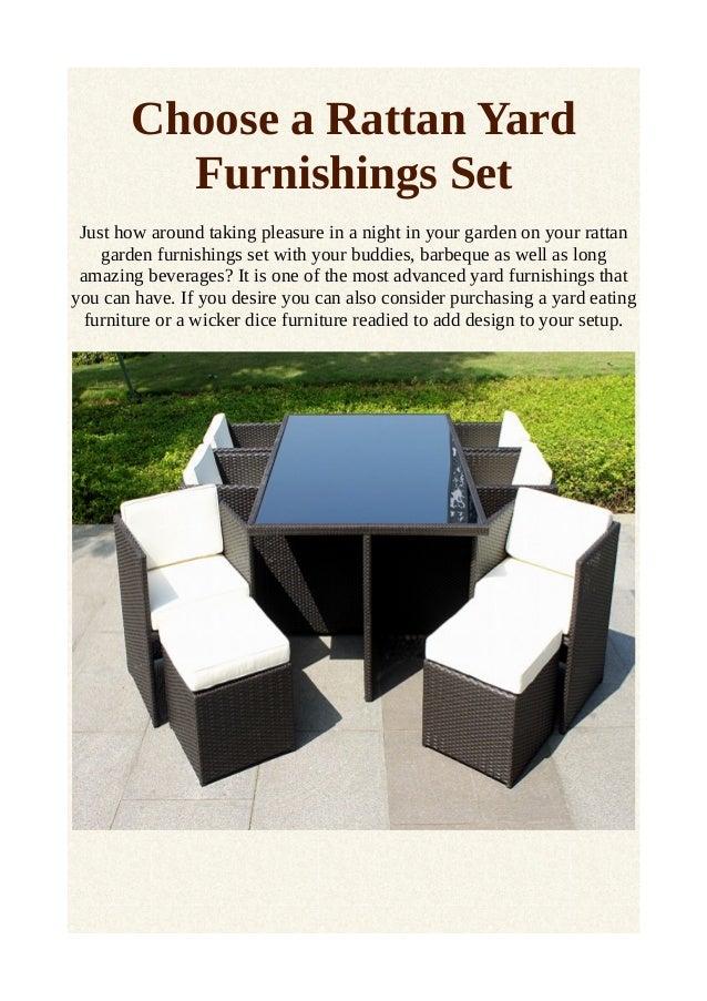 Choose a rattan yard furnishings set