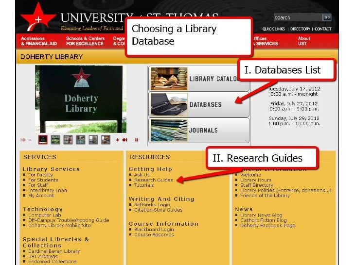 Choose a Library Database