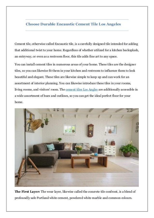 Choose Durable Encaustic Cement Tile Los Angeles