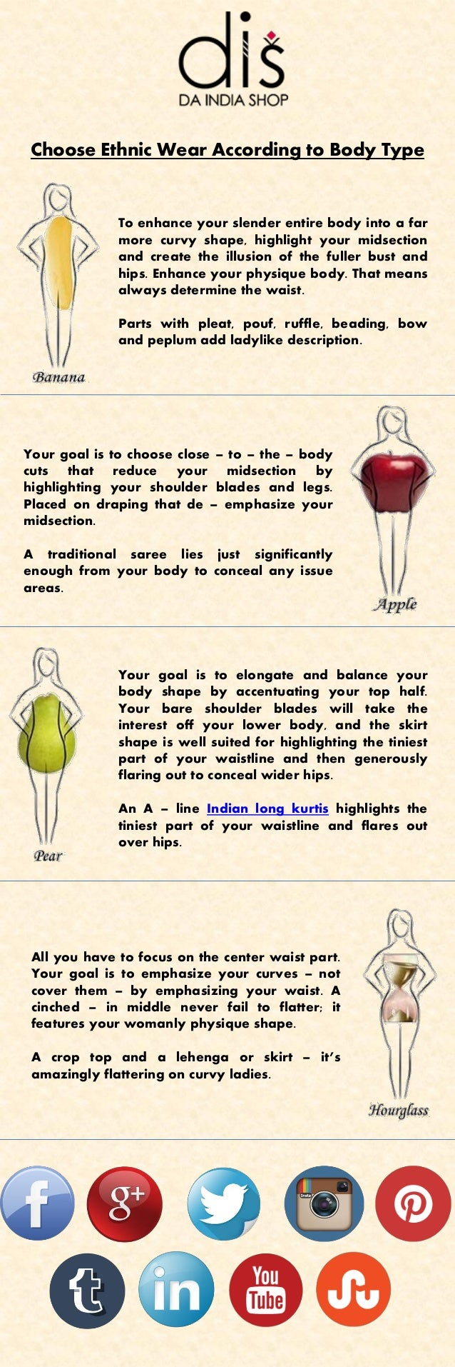 Choose Ethnic Wear According to Body Type To enhance your slender entire body into a far more curvy shape, highlight your ...