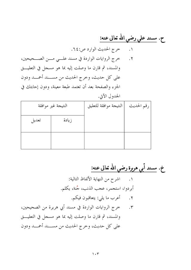 113 ح.ع تعاىل اهلل رضي علي مسهدهه: خ.عهه تعاىل اهلل رضي يرةره أبي مسهد: