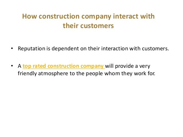 Why choose a reputable construction company for How to choose a building contractor