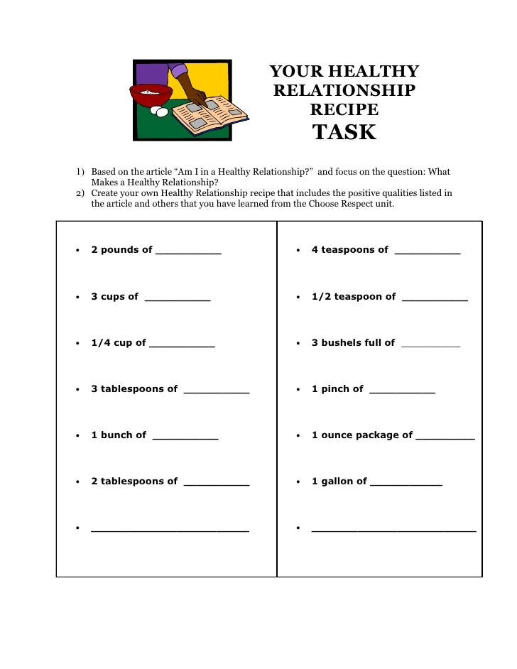 a healthy relationship is based on
