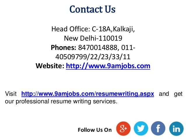 Resume making services delhi