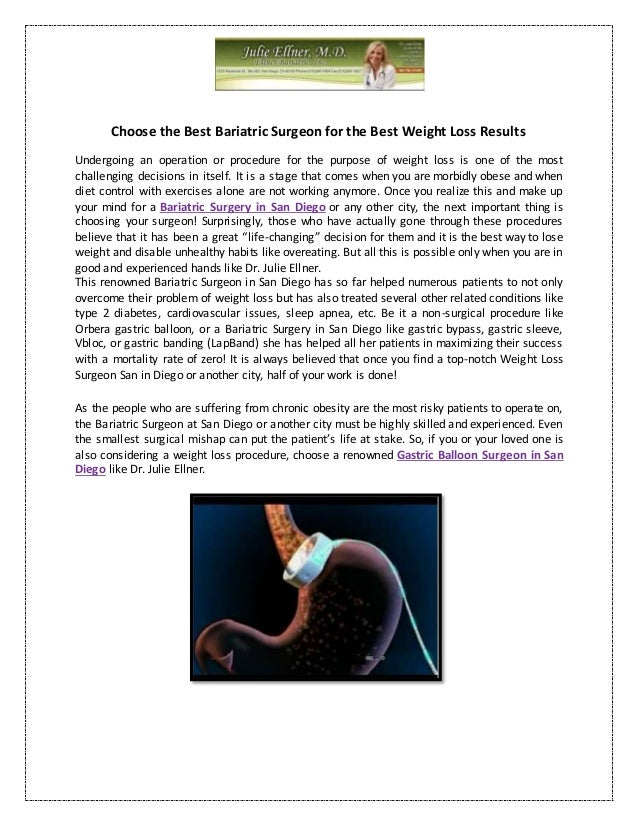 Choose The Best Bariatric Surgeon For The Best Weight Loss Results