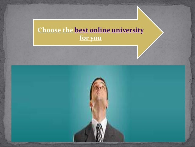 Choose the best online university for you