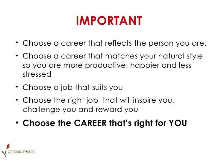 Essay importance choosing right career