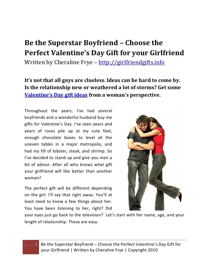 Be The Superstar Boyfriend U2013 Choose The Perfect Valentineu0027s Day Gift For Your  Girlfriend Written By ...
