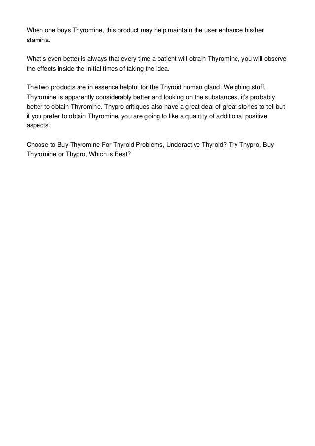 Underactive Thyroid Try Thypro