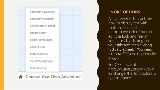 Writing a Choose Your Own Adventure Story in Twine