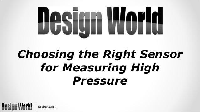 Choosing the Right Sensor for Measuring High Pressure