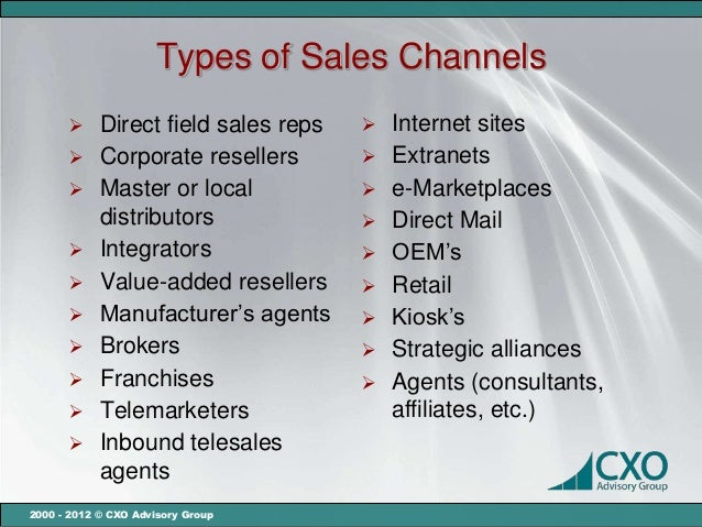 Choosing and managing sales channels for your startup mc carterengl…