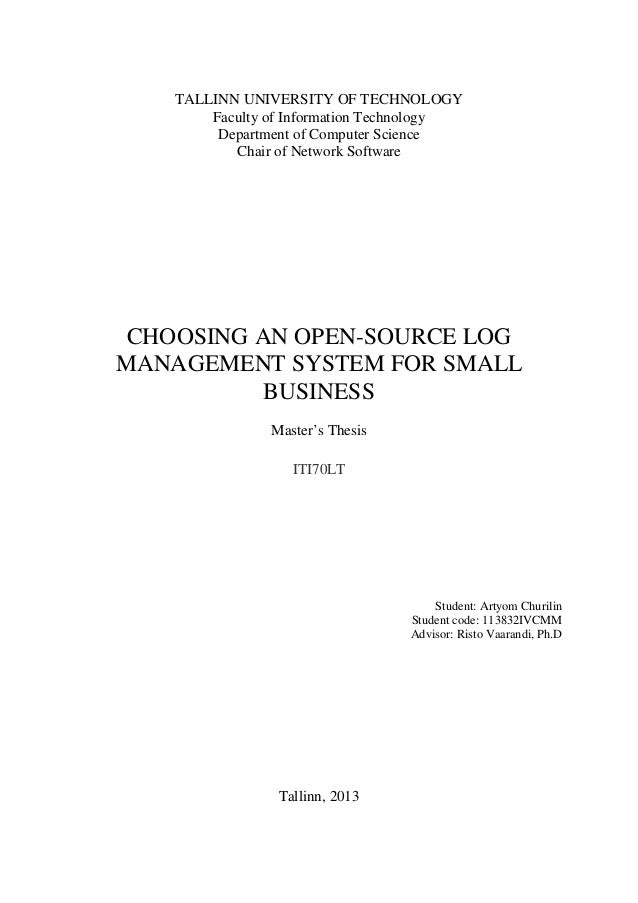 Choosing an open source log management system for small business