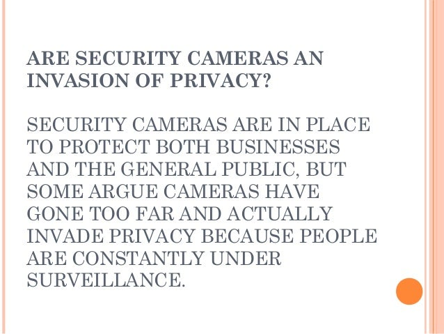 Advantages & Disadvantages of CCTV Cameras