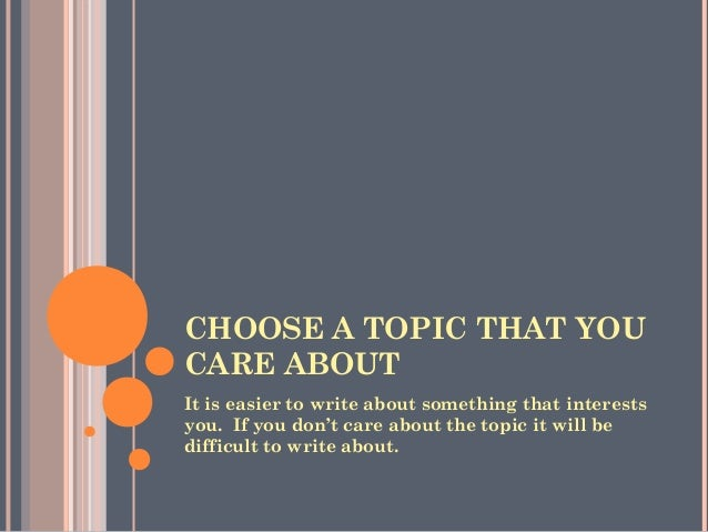 choosing a persuasive essay topic choose