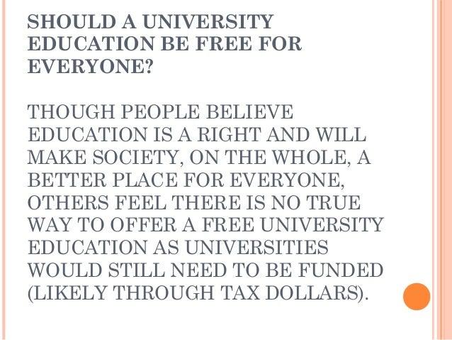 Free College Education Essay