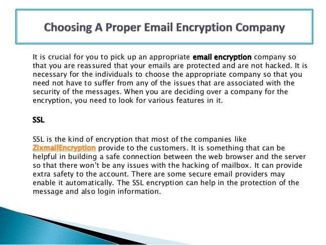 Choosing A Proper Email Encryption Company