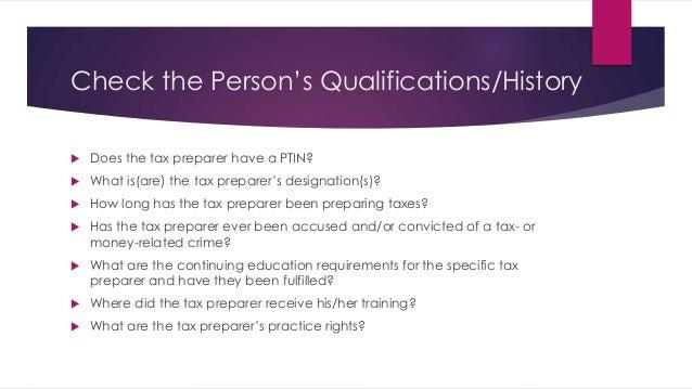 choosing a tax preparer