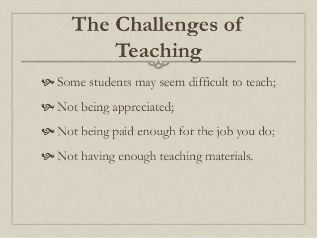 Choosing to become a teacher