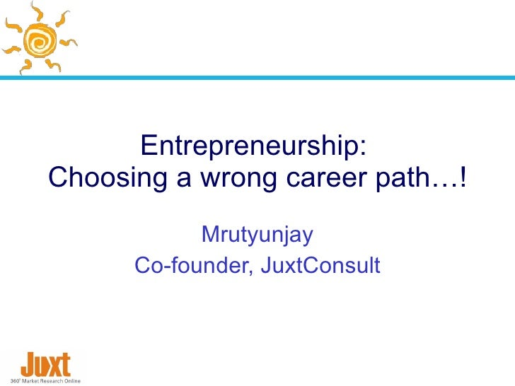 choosing a career path can be After an individual has become interested in a particular career field, numerous different paths can be pursued it is a good idea to critically analyze the results before pursuing a specific career path myth 9 - i should choose an occupation based on my strongest skills.