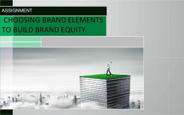 ASSIGNMENT  CHOOSING BRAND ELEMENTS TO BUILD BRAND EQUITY