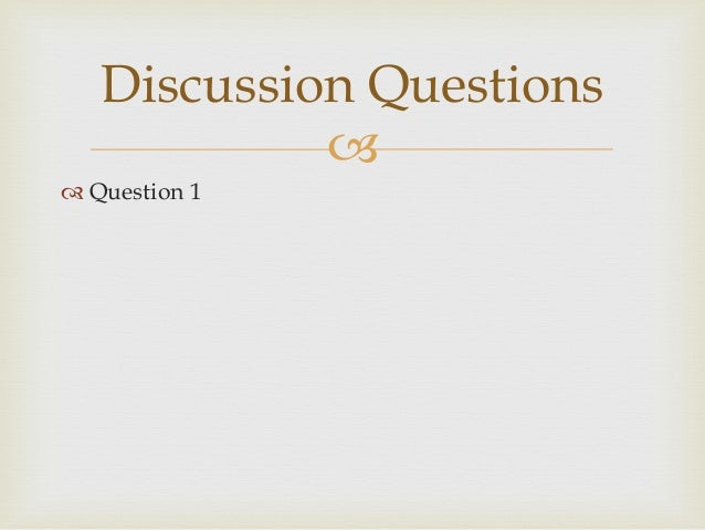 strategic brand management discussion question Find out how to get the investment research answers you want from management  it's your turn to ask a question  here are nine questions for management that.