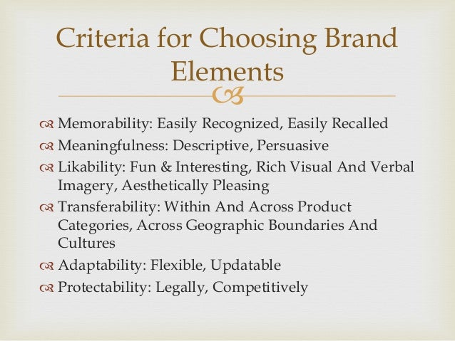 choosing brand elements to build brand The complete branding guide to  controllable brand elements  your final goal should be to settle on 3-4 words that truly represent the brand you want to build.