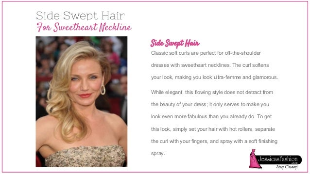 Choosing Hairstyle Based Your Dress Neckline
