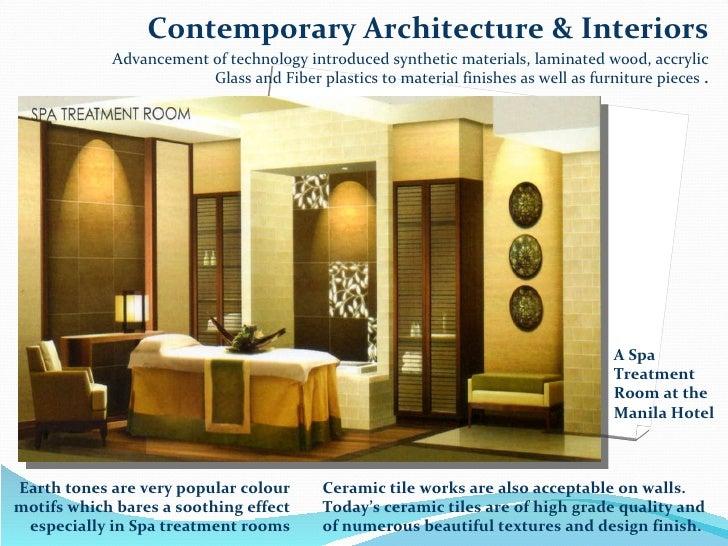 Choosing materials in interior design for all centuries or periods