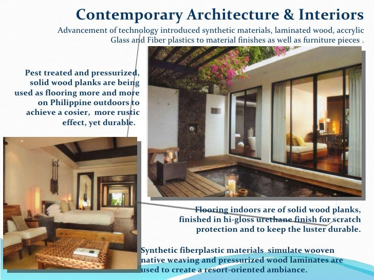 74 Contemporary Architecture Interiors Advancement Of Technology Introduced Synthetic Materials