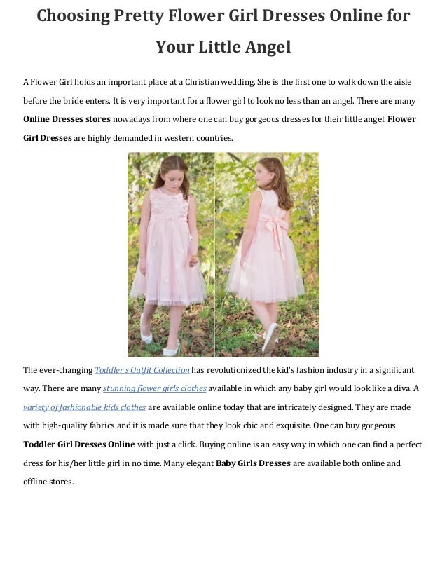 Choosing Pretty Flower Girl Dresses Online For Your Little Angel