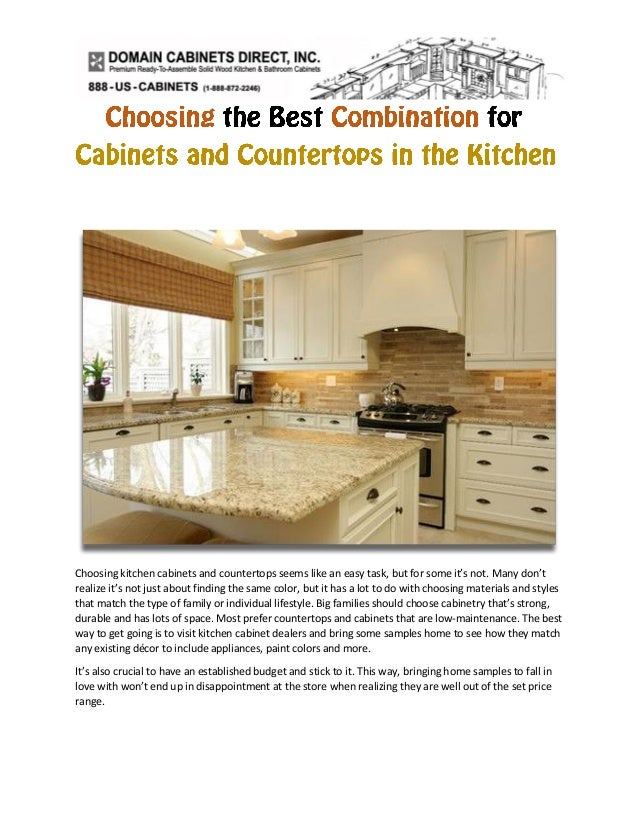 Choosing the best combination for cabinets and countertops ...