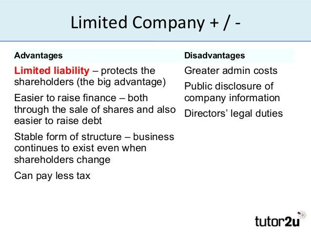 Legal structure of business organisations