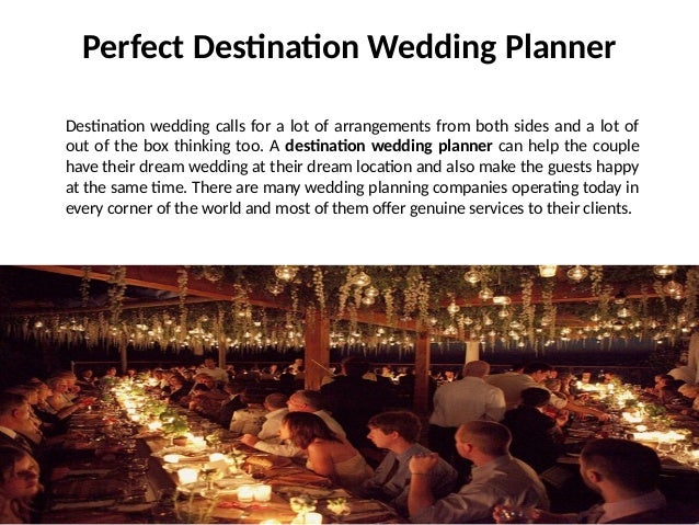 Perfect destination wedding planner theme wedding planner for Destination wedding planning guide