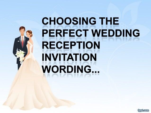 Invitation Wording For Wedding Reception: Choosing The Perfect Wedding Reception Invitation Wording