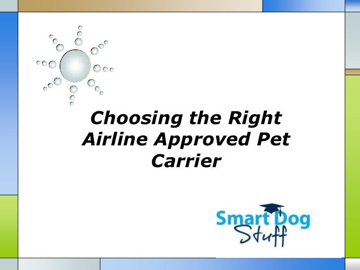 Choosing the RightAirline Approved Pet       Carrier