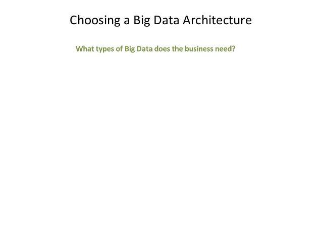 Choosing a Big Data Architecture