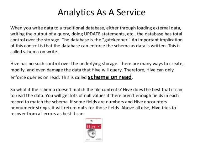 http://www.sqlbiinfo.com/2014/02/schema-on-read-vs-schema-on-write.html Schema on Read vs Schema on Write... Analytics As ...