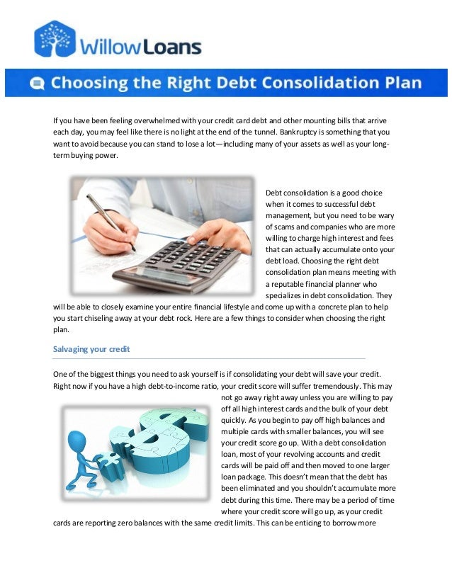 If you have been feeling overwhelmed with your credit card debt and other mounting bills that arrive each day, you may fee...