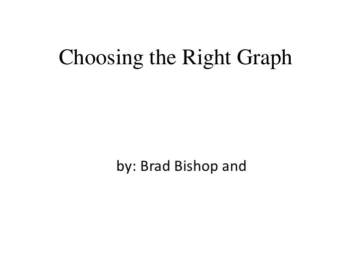 Choosing the Right Graph     by: Brad Bishop and