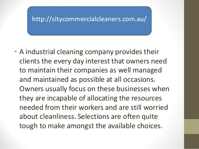 Choosing the right industrial cleaning company ppt Slide 3