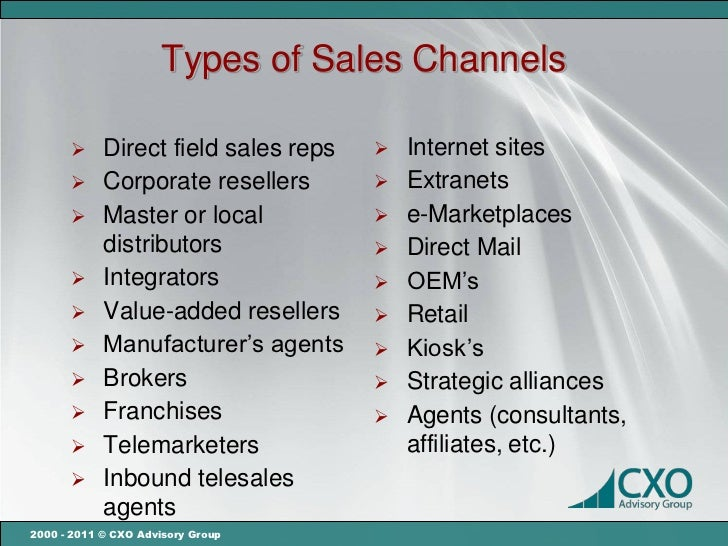 Choosing the right sales channel