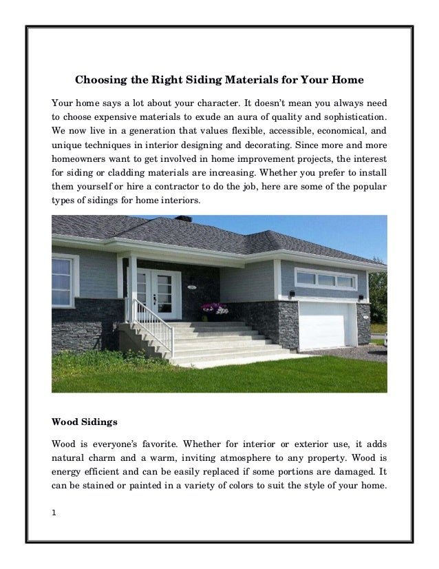 Top 5 Wall Siding Options For Your Home