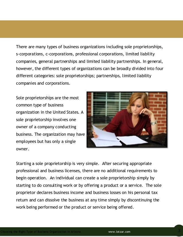 Choosing the Right Type of Business Organization in Arizona