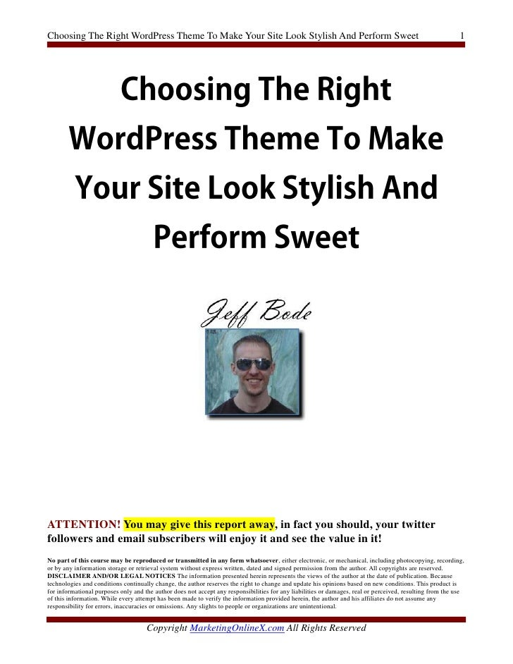 Choosing The Right WordPress Theme To Make Your Site Look Stylish And Perform Sweet                                       ...