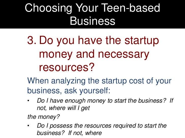 Start a business as a teen