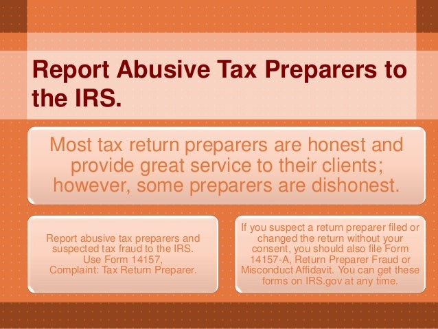 Choosing Your Tax Preparer Wisely