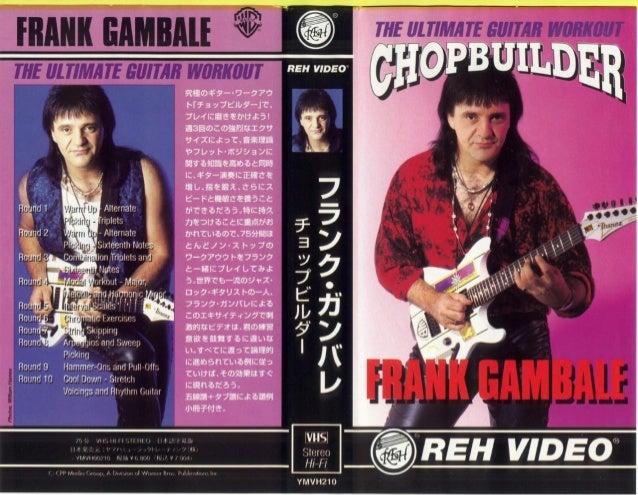 booklet Musicalizo Estudio - Chop Builder Frank Gambale