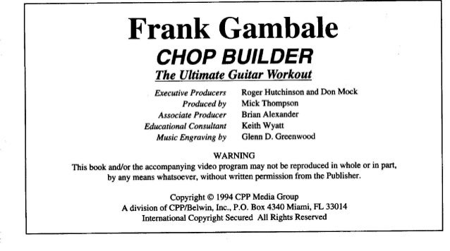 booklet Musicalizo Estudio - Chop Builder Frank Gambale Slide 2