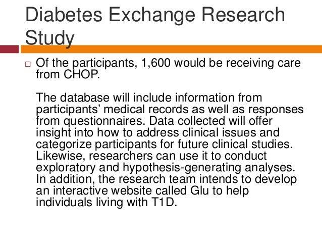 CHOP Hosts Type 1 Diabetes Exchange Research Study